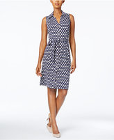Charter Club Iconic-Print Belted Shirtdress Only at Macy's