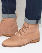 Bobbies L'explorateur Faux Shearling Lace Up Boots