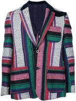 Sacai mexican stripe blazer - men - Cotton/Rayon - 1