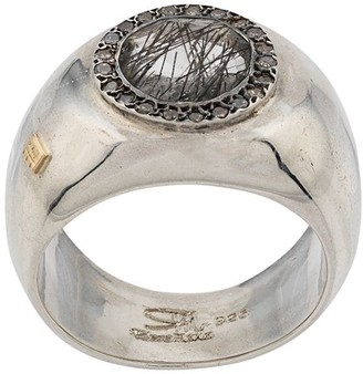 Rosa Maria Embellished Signet Ring