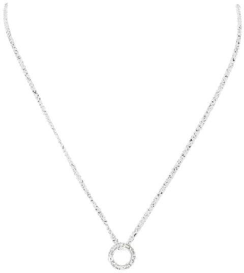 Damiani 18K White Gold & Diamonds D-Side Chain Pendant Necklace