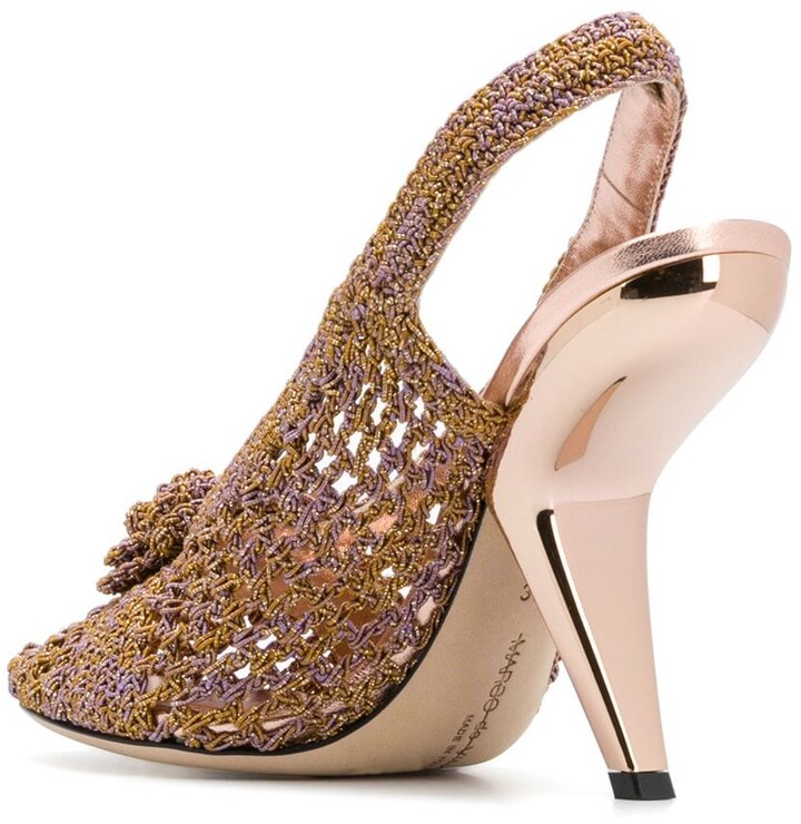 Thumbnail for your product : Marco De Vincenzo Floral Applique Knitted Sandals