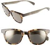 Oliver Peoples Men's 'Masek' 51Mm Retro Sunglasses - Black