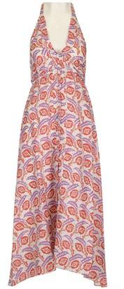 Isabel Marant Raizama Printed Open Back Dress