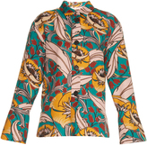 Marni Bellwoods-print cotton and linen-blend jacket