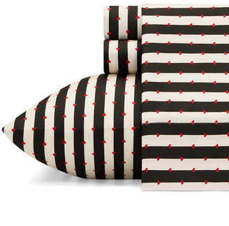 Betsey Johnson Wonderland Stripe Sheet Set, Twin Xl Bedding