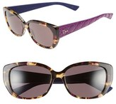 Christian Dior Women's 'Lady' 55Mm Retro Sunglasses - Black/ Pink