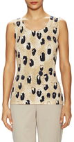 Lafayette 148 New York Cotton Printed Shell
