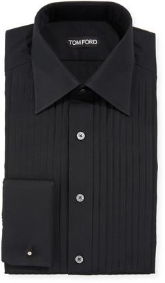 Tom Ford Men's Pleated Bib Tuxedo Shirt