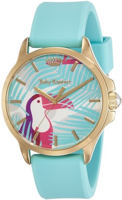Juicy Couture Daydreamer Women's Quartz Watch with Blue Dial Analogue Display and Blue Rubber Strap 1901426