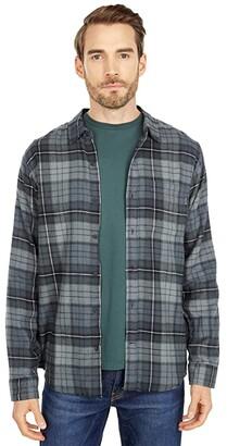 Hurley Portland Flannel Long Sleeve (Dark Smoke Grey) Men's Clothing
