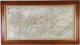 One Kings Lane Vintage Framed London & Westminster Map