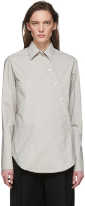 Studio Nicholson Grey Cross Over Shirt