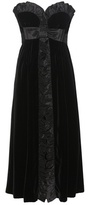 Miu Miu Strapless Velvet Dress