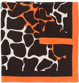 Linda Farrow Animal Print Scarf