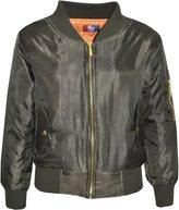 a2z4kids Kids Jacket Girls Boys Bomber Padded Zip Up Biker Jacktes MA 1 Coat 2-13 Years