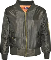 a2z4kids Kids Jacket Girls Boys Bomber Padded Zip Up Biker Jacktes MA 1 Coat 2