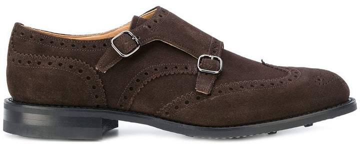 Church's Monkton suede monk-strap shoes