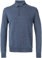 Lardini classic buttoned collar jumper - men - Wool - 48