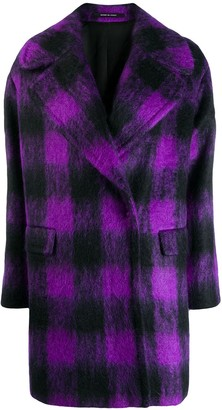Tagliatore Oversized Plaid Coat