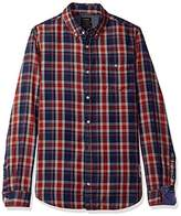 Buffalo David Bitton Men's Sallera Long Sleeve Fashion Woven Shirt