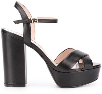 Schutz Crossover Strap 120mm Platform Sandals