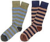 Etiquette Clothiers Rugby Stripes Socks (2 PK)