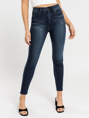 Articles of Society High Lisa Skinny Ankle Hug Jeans in Dark Midnight