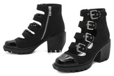 Opening Ceremony Grunge Buckle Boots
