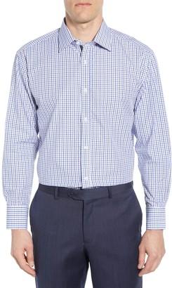 English Laundry Grid Trim Fit Dress Shirt