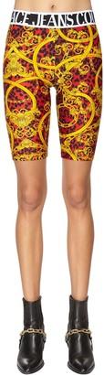 Versace Printed Tech Jersey Biker Shorts