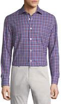 Kiton Casual Plaid Cotton Shirt