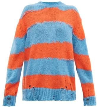 Acne Studios Kantonia Striped Sweater - Womens - Blue Multi