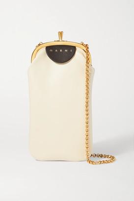 Marni Frame Two-tone Leather Shoulder Bag