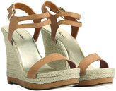 Faux Suede Natural Wedge