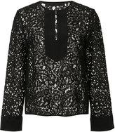 Jenni Kayne front placket lace blouse - women - Cotton/Nylon/Silk - XS