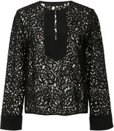 Jenni Kayne front placket lace blouse