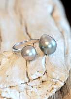 Designs By Alina Perfect Duo Ring- Tahitian Pearls