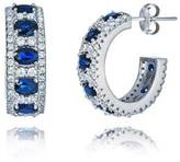 Sterling Silver Simulated Sapphire Cubic Zirconia