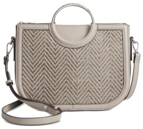 INC International Concepts Inc Heatherr Woven Satchel, Created for Macy's