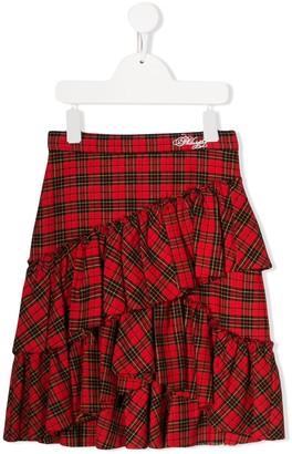 Philosophy Di Lorenzo Serafini Kids Plaid Mini Skirt