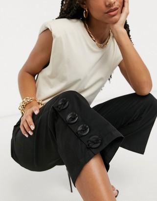 ELVI flare trousers in black