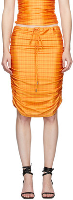 Supriya Lele Orange Ruched Drawstring Skirt