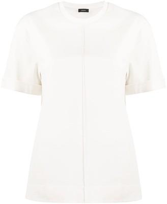Joseph vertical seam cotton T-shirt