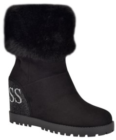 GUESS Women's Paulie Wedge Boots Women's Shoes