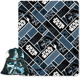 """Disney Star Wars Classic Big Mask Darth Vader 16"""" Pillow with Fleece Throw by Northwest"""