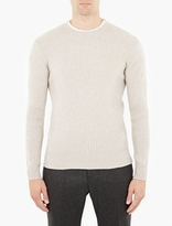 A.p.c. Natural Ribbed Wool Sweater