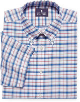 STAFFORD Stafford Travel Short-Sleeve Oxford Dress Shirt - Big & Tall