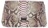 Kara Ross Large Python Envelope Clutch