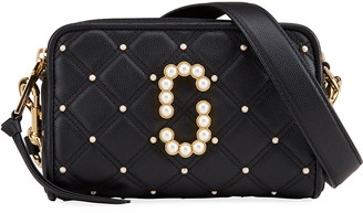 Marc Jacobs The Softshot 21 Quilted Pearly Crossbody Bag